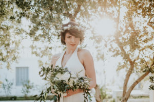 Bride for a mediterranean wedding style